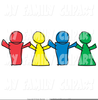 Clipart Paper Dolls Holding Hands Image