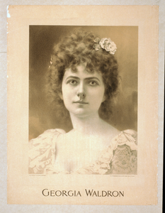 Georgia Waldron  / From Photo By C.m. Hayes & Co., Detroit. Image
