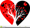 Broken Heart Clipart Black And White Image