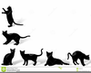 Halloween Black Cats Clipart Image