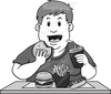 Clipart Of Fat Kid Image