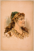 [head-and-shoulders Image Of Blond Woman, Facing Right, Wearing Gypsy Like Clothing] Image