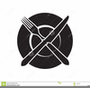 Plate Fork And Knife Clipart Image