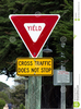No Yield Sign Clipart Image