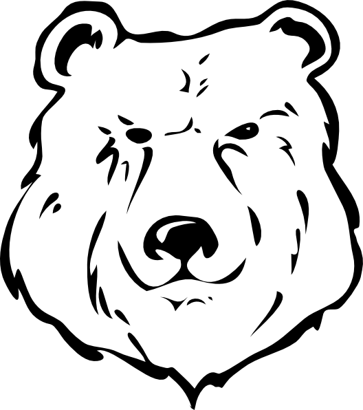 Bear black and white clip art at clker com vector clip art online