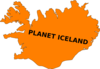 Planet Iceland Clip Art