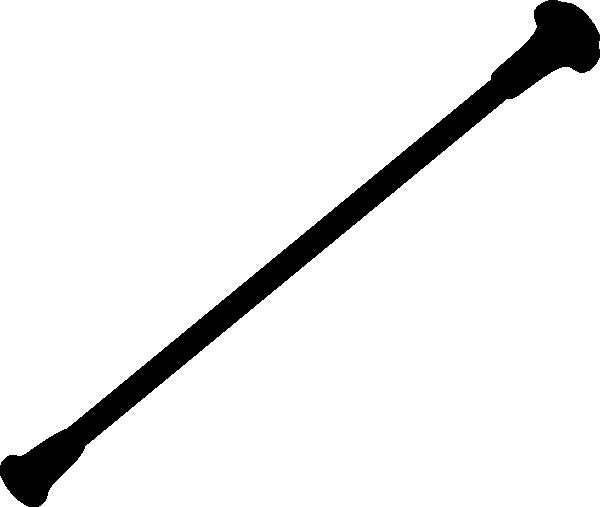Baton Black2 Clip Art At Clker Com Vector Clip Art