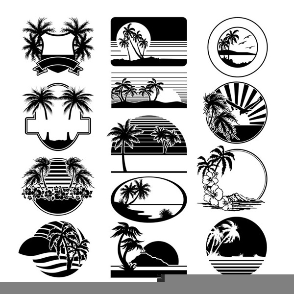 Beach Scene Clipart Black And White | Free Images at Clker ...