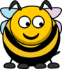Bee Looking Right-down Clip Art