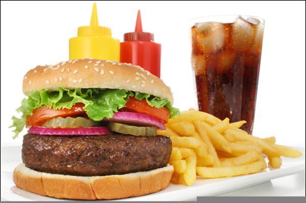 Clip Art Hamburger And Fries Clipart - Hamburger And Fries Drawing, HD Png  Download - kindpng