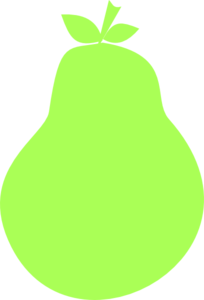 Green Pear Silhouette Clip Art