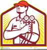 Air Conditioning Technician Clipart Image