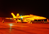 F/a-18 Hornet Night Launch. Image