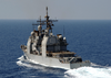The Guided Missile Cruiser Uss Normandy (cg 60) Underway Image
