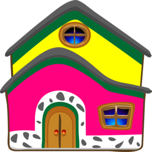 Pink/yellow House Clip Art