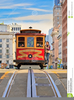 San Francisco Cable Car Clipart Image