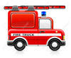 Fire Engine Black And White Clipart Image