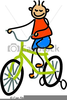 Kid Riding Bike Clipart Image