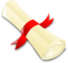 Rolled Diploma Clip Art