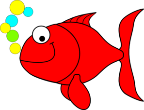 Red Smiling Goldfish Clip Art
