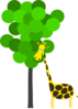 Giraffe With Tree Clip Art