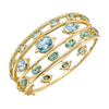 Temple St Clair Mermaid Cuff Bracelet Tourmaline Aquamarine Image