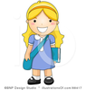 Royalty Free School Girl Clipart Illustration Image