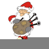 Santa Playing Bagpipes Clipart Image