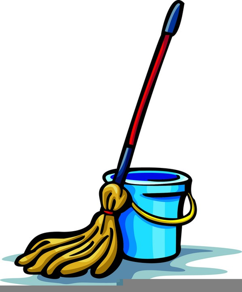 Free Clipart Mop And Bucket