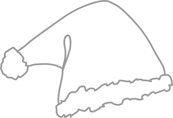 ... And White santa hat white clip art at clker.com - vector clip art