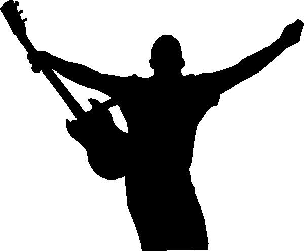 Guitar Silhouette Black (c) Clip Art at Clker.com - vector ...