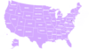 Us Color Map With State Names Clip Art