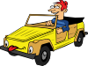Boy Driving Car Cartoon Clip Art