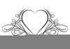 Two Hearts Designs Clipart Image