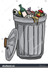 Open Trash Can Clipart Image