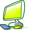 Colorful Computer Station Clip Art