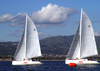 The U.s. Sailing Team Jockeys For Position And Tries To Find The Best Wind During The 6th Race Of The 3rd World Military Games Sailing Competition. Image