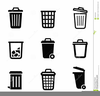 Black Trash Can Clipart Image
