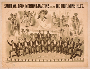 Smith, Waldron, Morton & Martin S Original Big Four Minstrels Image
