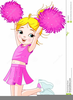 Little Girl Cheerleader Clipart Image