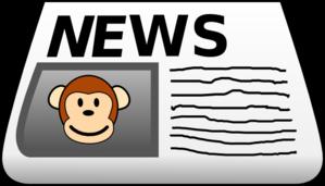 Clip Art News Clip Art monkey news clip art at clker com vector online art