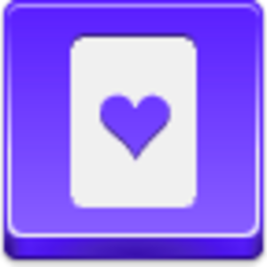Free Violet Button Hearts Card Image