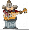 Cowboy Playing Guitar Clipart Image
