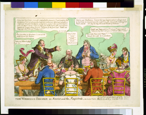 The Wedding Dinner, Or, Moses And The Magistrate, Vide London Tavern Image