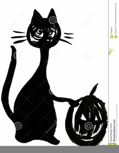 Scary Black Cat Clipart Image