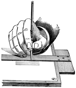 Holding A Ruling Pen Image