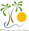 Palm Trees Sun Clipart Image