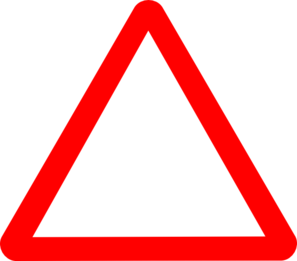 Red Warning Triangle Clip Art
