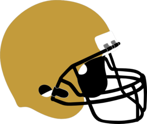 Football Helmet Gold Black Clip Art