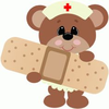 Monkey Clipart With Bandaids Image